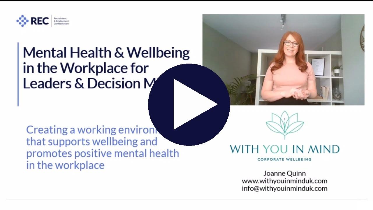 Mental health at work - leaders